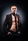 Ισχυρό, κατάλληλο και φίλαθλο stripper άτομο Στοκ Εικόνα