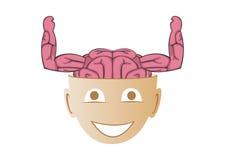 Ισχυρό μυαλό Στοκ Εικόνες