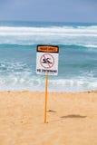 Ισχυρό τρέχον προειδοποιητικό σημάδι Oahu Χαβάη Στοκ εικόνες με δικαίωμα ελεύθερης χρήσης