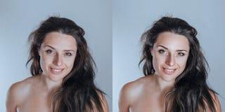 Ισχυρό όμως φυσικό νέο θηλυκό πορτρέτο στούντιο που sampl στοκ φωτογραφίες