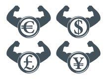 Ισχυρό SE εικονιδίων νομίσματος ελεύθερη απεικόνιση δικαιώματος