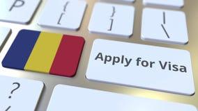 ΙΣΧΥΣΤΕ ΓΙΑ το κείμενο ΘΕΩΡΗΣΕΩΝ και τη σημαία της Ρουμανίας στα κουμπιά στο πληκτρολόγιο υπολογιστών Εννοιολογική τρισδιάστατη ζ φιλμ μικρού μήκους