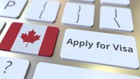 ΙΣΧΥΣΤΕ ΓΙΑ το κείμενο ΘΕΩΡΗΣΕΩΝ και τη σημαία του Καναδά στα κουμπιά στο πληκτρολόγιο υπολογιστών τρισδιάστατη εννοιολογική απόδ στοκ εικόνα με δικαίωμα ελεύθερης χρήσης