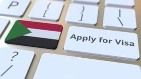 ΙΣΧΥΣΤΕ ΓΙΑ το κείμενο ΘΕΩΡΗΣΕΩΝ και τη σημαία του Σουδάν στα κουμπιά στο πληκτρολόγιο υπολογιστών Εννοιολογική τρισδιάστατη ζωτι απόθεμα βίντεο