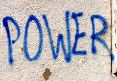 ισχύς γκράφιτι Στοκ φωτογραφία με δικαίωμα ελεύθερης χρήσης