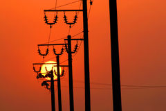 ισχύς ενεργειακών γραμμών Στοκ εικόνες με δικαίωμα ελεύθερης χρήσης