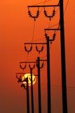 ισχύς ενεργειακών γραμμών Στοκ φωτογραφία με δικαίωμα ελεύθερης χρήσης