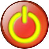 ισχύς κουμπιών Στοκ Εικόνες