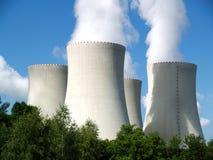 ισχύς πυρηνικών εγκαταστά& Στοκ Εικόνες