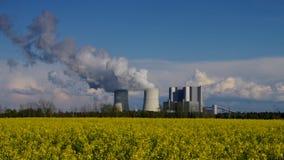 ισχύς φυτών άνθρακα απόθεμα βίντεο
