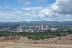 ισχύς φυτών κεντρικής θέρμανσης θερμική Εγκαταστάσεις παραγωγής ενέργειας άνθρακα της Mae Moh σε Lampang Thailan Στοκ Εικόνες