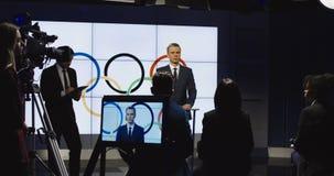 Ισχύω διασκέψεων για τους διεθνείς αθλητικούς ανταγωνισμούς απόθεμα βίντεο