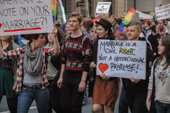 Ισότητα γάμου της Αδελαΐδα στοκ φωτογραφίες με δικαίωμα ελεύθερης χρήσης