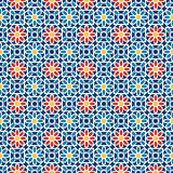 Ισλαμικό άνευ ραφής σχέδιο Διανυσματικό αραβικό γεωμετρικό ασιατικό σχέδιο για τις κάρτες διακοπών Στοκ Εικόνες