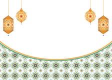Ισλαμικό υπόβαθρο τέχνης με τα φανάρια Στοκ εικόνα με δικαίωμα ελεύθερης χρήσης
