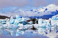 Ισλανδία Η λιμνοθάλασσα Yokulsarlon Στοκ εικόνα με δικαίωμα ελεύθερης χρήσης
