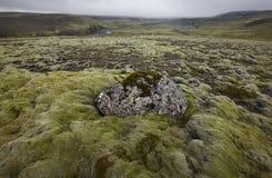 Ισλανδία. Νότια περιοχή. Lakagigar. Ηφαιστειακό τοπίο. στοκ φωτογραφία