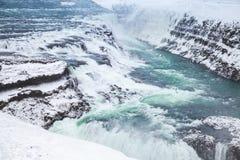 Ισλανδία, Gullfoss ή χρυσός καταρράκτης το χειμώνα Στοκ εικόνες με δικαίωμα ελεύθερης χρήσης