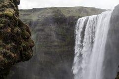 Ισλανδία Waterall Svartifoss Στοκ Εικόνες