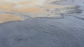 Ισλανδική θερμική άνοιξη θείου απόθεμα βίντεο