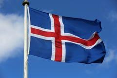 Ισλανδική σημαία Στοκ Εικόνες