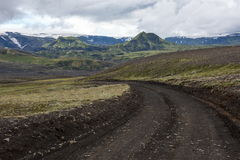 Ισλανδικός άγριος εσωτερικός, ταξίδι κατά μήκος του ποταμού Markarfljot, πάγος Στοκ εικόνα με δικαίωμα ελεύθερης χρήσης