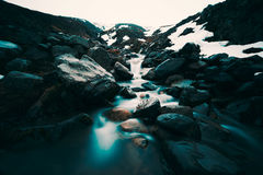 Ισλανδικός καταρράκτης Milkey Στοκ Εικόνες
