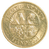 ισλανδικό νόμισμα κορωνών 50 Στοκ φωτογραφία με δικαίωμα ελεύθερης χρήσης