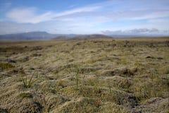 Ισλανδικό τοπίο με την πεδιάδα outhwash στοκ φωτογραφία