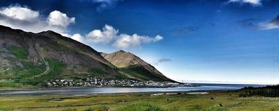 Ισλανδικό φιορδ Στοκ φωτογραφία με δικαίωμα ελεύθερης χρήσης