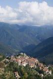 Ιταλία Επαρχία Imperia Αρχαίο μεσαιωνικό χωριό Triora Στοκ Εικόνες