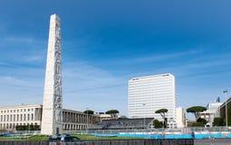 Ιταλία Ρώμη 14 Απριλίου 2018 Οβελίσκος Marconi περιοχής της ΕΥΡ και β Στοκ εικόνα με δικαίωμα ελεύθερης χρήσης