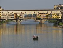 Ιταλία, Τοσκάνη, Φλωρεντία, ποταμός Arno στοκ εικόνες με δικαίωμα ελεύθερης χρήσης