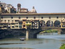 Ιταλία, Τοσκάνη, Φλωρεντία, ποταμός Arno στοκ φωτογραφία με δικαίωμα ελεύθερης χρήσης