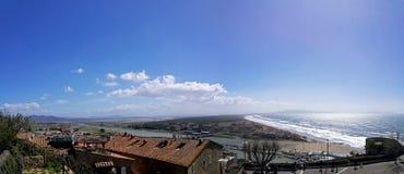Ιταλία, Τοσκάνη, della Pescaia, Maremma Τοσκάνη, πανοραμική άποψη Castiglione της ακτής Στοκ εικόνα με δικαίωμα ελεύθερης χρήσης