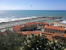 Ιταλία, Τοσκάνη, della Pescaia, Maremma Τοσκάνη, πανοραμική άποψη Castiglione Στοκ Φωτογραφία