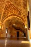 Ιταλία, Angera Castle Rocca Di Angera Εσωτερική ζωγραφική τοίχων ενός αρχαίου φρουρίου Στοκ Εικόνες