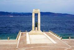 Ιταλία, Reggio di Calabria, αποβάθρα της Μεσογείου, μνημείο στοκ φωτογραφία με δικαίωμα ελεύθερης χρήσης