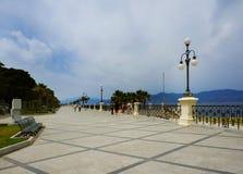 Ιταλία, Reggio di Calabria, αποβάθρα της Μεσογείου - Lungom στοκ φωτογραφίες