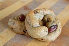 Ιταλικά αλμυρά μπισκότα με τα αμύγδαλα Στοκ φωτογραφίες με δικαίωμα ελεύθερης χρήσης