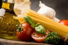 ιταλικά ζυμαρικά 2 συστατ& Στοκ Φωτογραφία