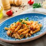 ιταλικά ζυμαρικά penne Στοκ Φωτογραφίες