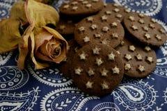 Ιταλικά μπισκότα με το κακάο στοκ φωτογραφία