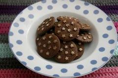 Ιταλικά μπισκότα με το κακάο στοκ εικόνα με δικαίωμα ελεύθερης χρήσης