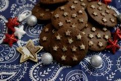 Ιταλικά μπισκότα με το κακάο στοκ φωτογραφία με δικαίωμα ελεύθερης χρήσης