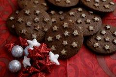 Ιταλικά μπισκότα με το κακάο στοκ εικόνες με δικαίωμα ελεύθερης χρήσης