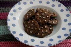 Ιταλικά μπισκότα με το κακάο στοκ φωτογραφίες με δικαίωμα ελεύθερης χρήσης