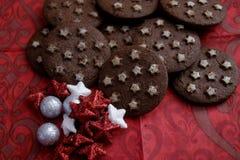 Ιταλικά μπισκότα με το κακάο στοκ φωτογραφίες