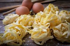 Ιταλικά φρέσκα ζυμαρικά Στοκ εικόνες με δικαίωμα ελεύθερης χρήσης