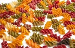 Ιταλικά χρωματισμένα ζυμαρικά στοκ φωτογραφία με δικαίωμα ελεύθερης χρήσης